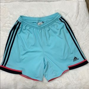 Adidas Clima Cool blue workout shorts
